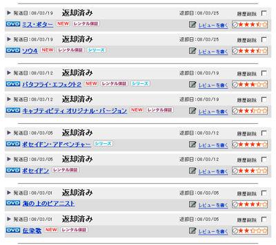 TSUTAYA DISCAS 宅配DVD