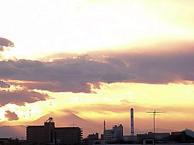 お正月の風景・富士山